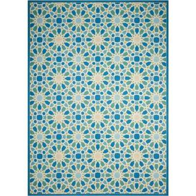 Starry Eyed Porcelain 10 ft. x 13 ft. Indoor/Outdoor Area Rug