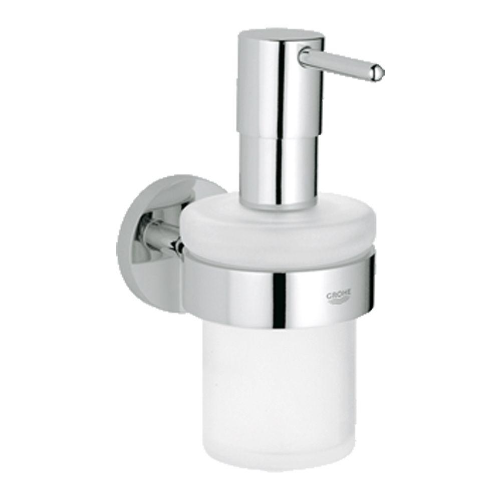 Essentials Wall-Mounted Soap Dispenser with Holder in StarLight Chrome