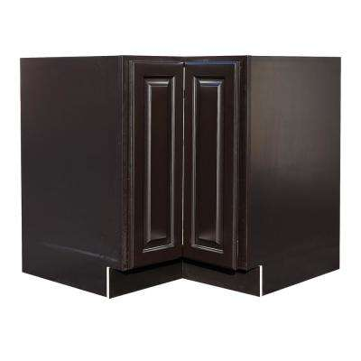 La. Newport Ready to Assemble 36x34.5x24 in. Lazy Susan Base Cabinet in Dark Espresso
