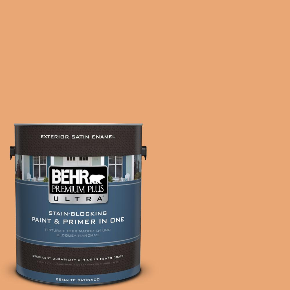 BEHR Premium Plus Ultra 1-gal. #M230-5 Sweet Curry Satin Enamel Exterior Paint