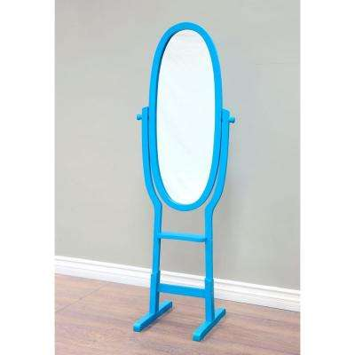 21-3/4 in. x 61-3/4 in. Mirror Stand in Blue