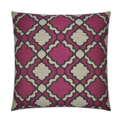 Taylor Azalea Feather Down 24 in. x 24 in. Standard Decorative Throw Pillow