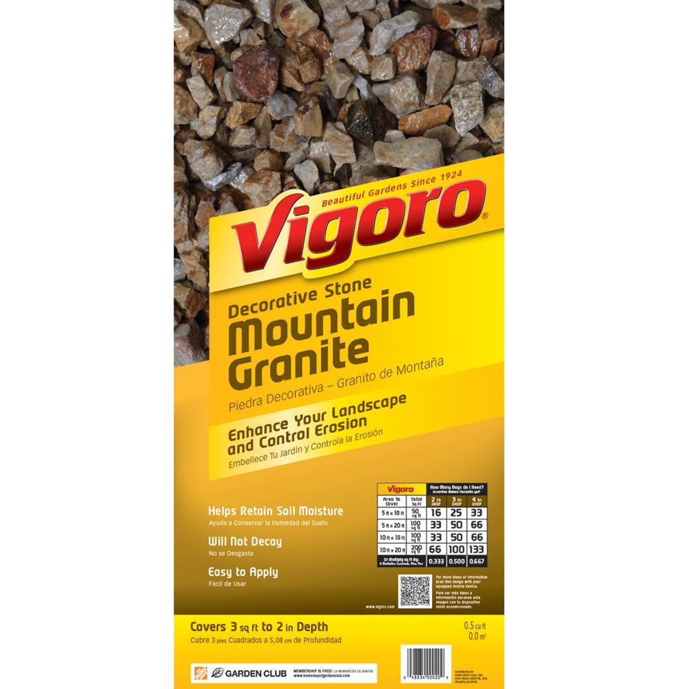 0.5 cu. ft. Bagged Mountain Granite Decorative Stone (64 Bags/32 cu. ft./Pallet)