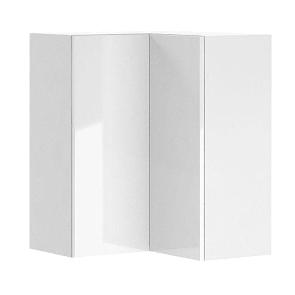 Eurostyle Ready to Assemble 24x30x24 in. Valencia Corner Wall Cabinet in White Melamine and Door in White