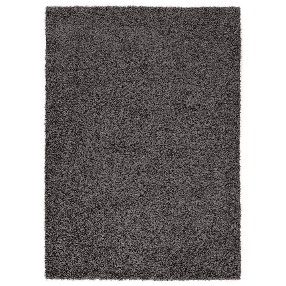 Diagona Designs Era Collection Charcoal Gray 5 Ft X 7 Area Rug