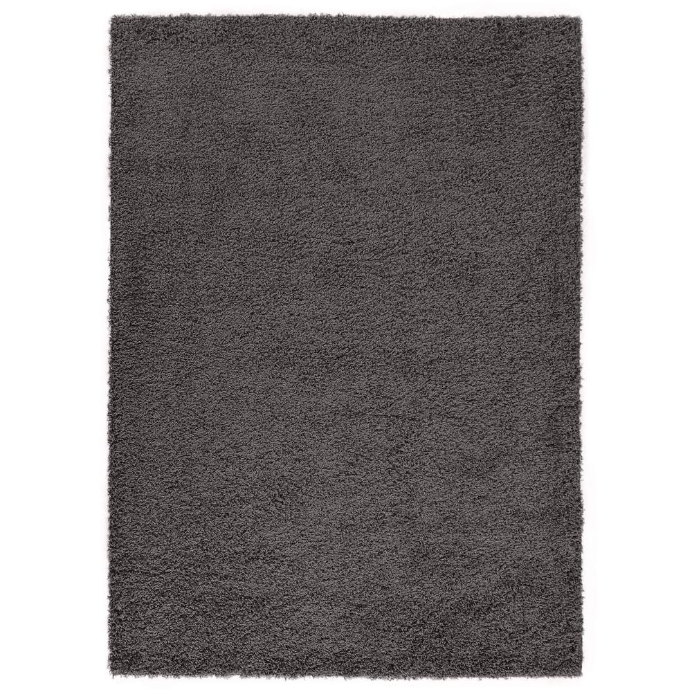 Diagona Designs Era Collection Charcoal Gray 8 Ft X 10 Area Rug