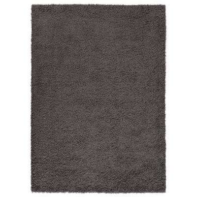 Era Collection Charcoal Gray 7 ft. x 9 ft. Shaggy Area Rug