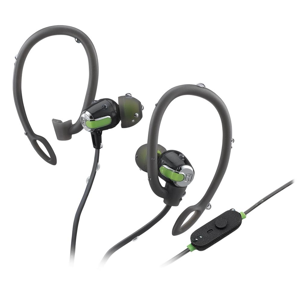 iHome Bluetooth Wireless Water-Resistant Sport Earphones with Mic, Remote and Sport Clips -  iB71GQC