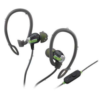 Bluetooth Wireless Water-Resistant Sport Earphones with Mic, Remote and Sport Clips
