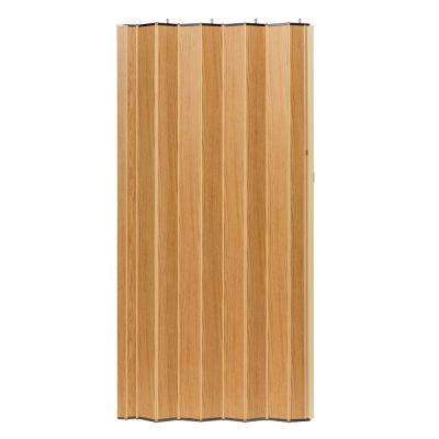 48 in. x 96 in. Woodshire Vinyl-Laminated MDF Natural Oak Accordion Door