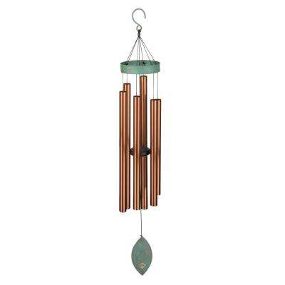 46 in. Precision-Tuned Patina Breeze Bronze Wind Chime