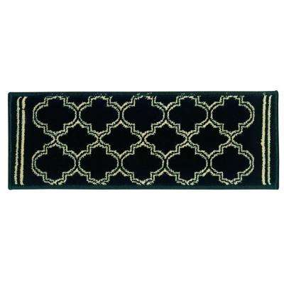 Stratford Garden Gate Black 9 in. x 33 in. Stair Tread Cover