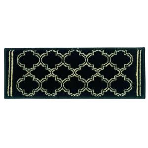 Exceptional Natco Stratford Garden Gate Black 9 In. X 33 In. Stair Tread  Cover 8267BKST33   The Home Depot