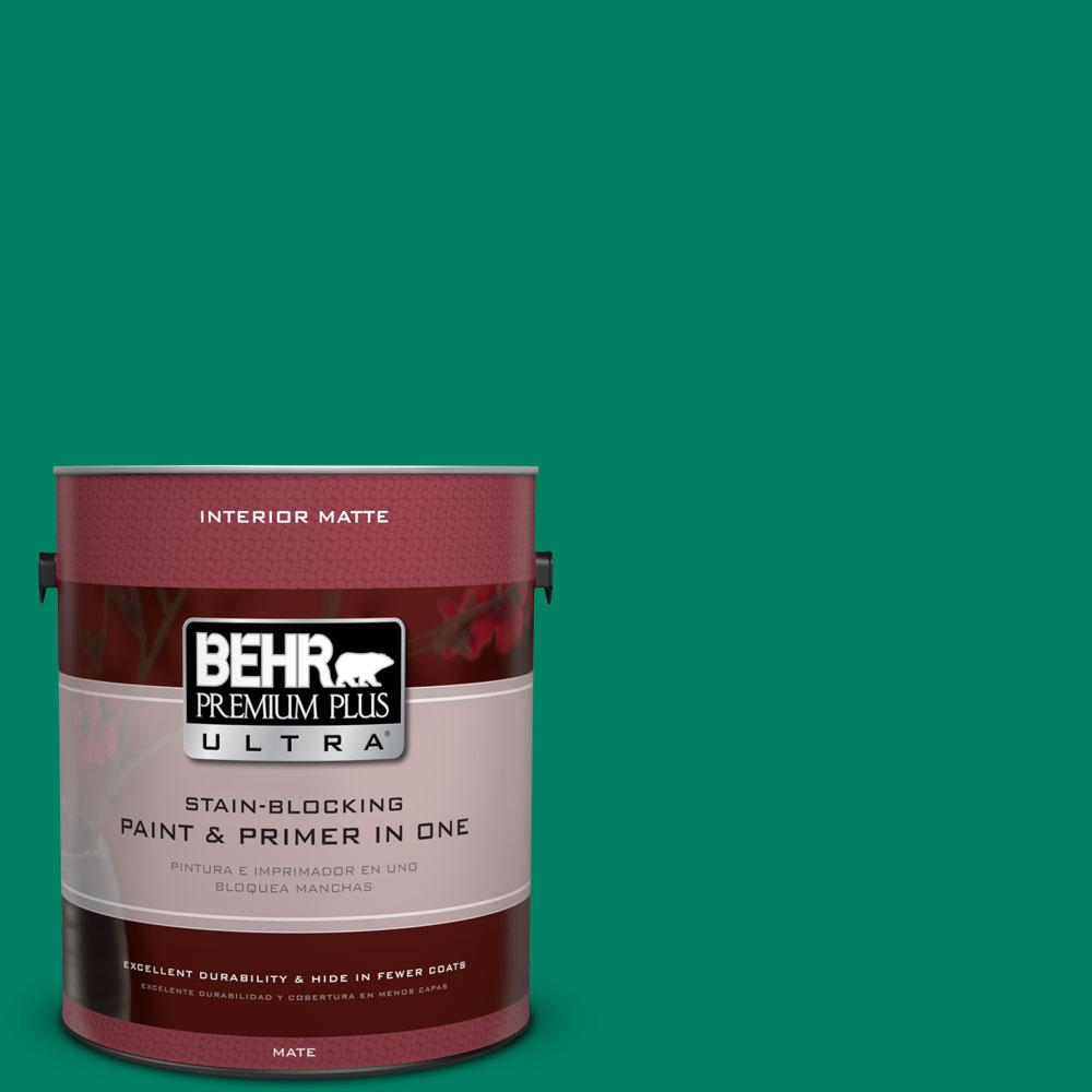 1 gal. #480B-6 Treasure Isle Flat/Matte Interior Paint