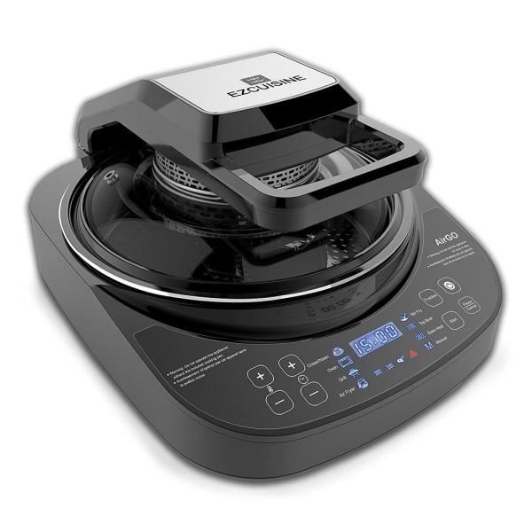 5-in-1 Programmable 4 Qt. Black Electric Multi-Cooker with Grill