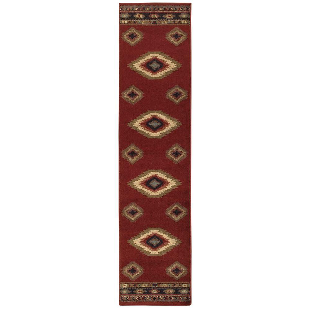 Aztec Red 2 ft. x 8 ft. Runner Rug