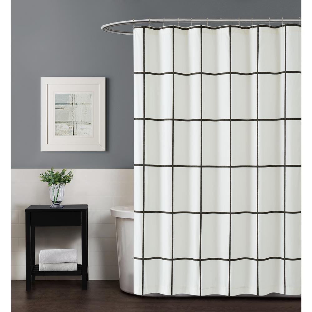 Kurt Windowpane 72 in. Shower Curtain