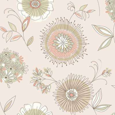 Maisie Beige Floral Burst Wallpaper