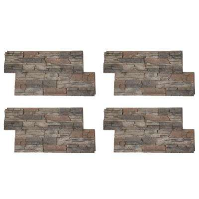 Stacked Stone 24 in. x 42 in. Kenai Faux Stone Siding Panel (4-Pack)