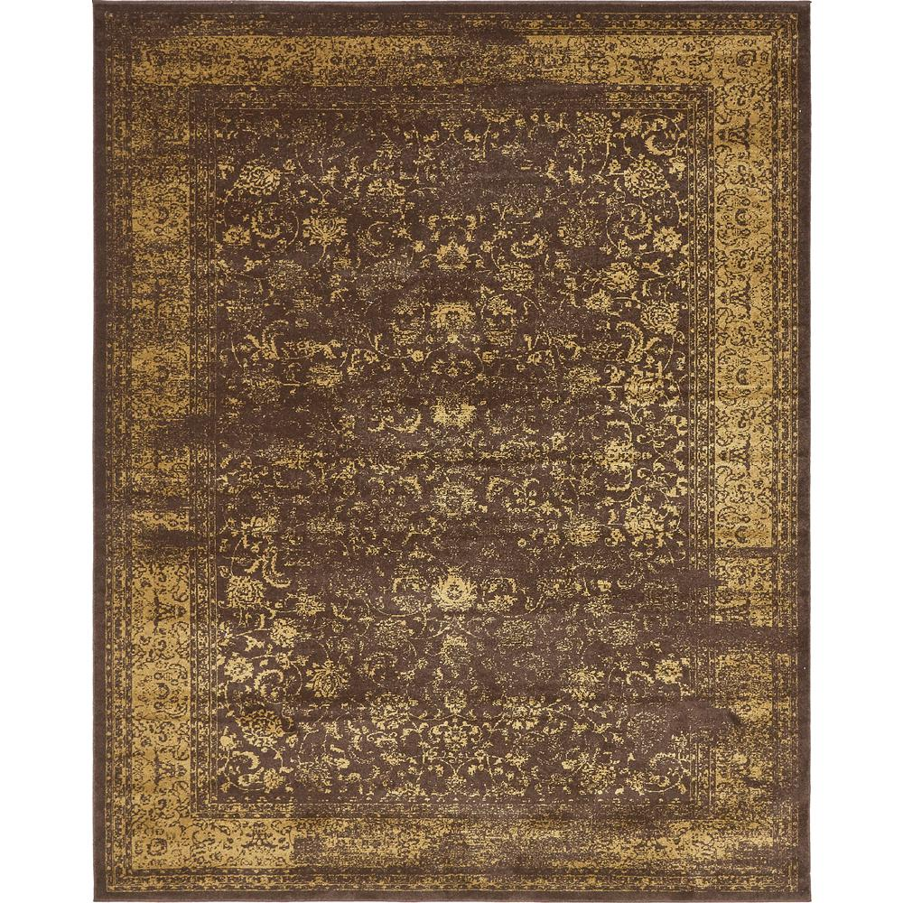 Unique Loom Melbourne Brown And Tan 8 Ft X 10 Area Rug