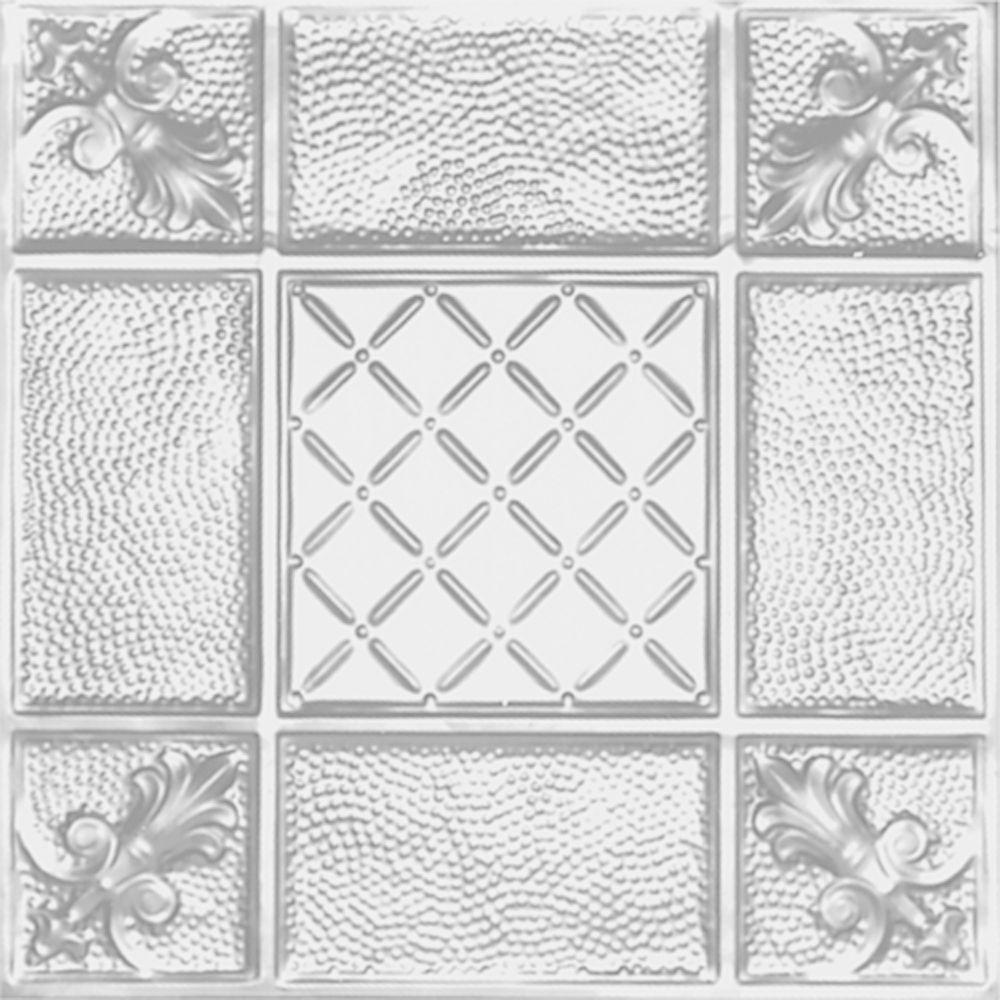 Shanko 2 Ft X 2 Ft Lay In Suspended Grid Tin Ceiling Tile In