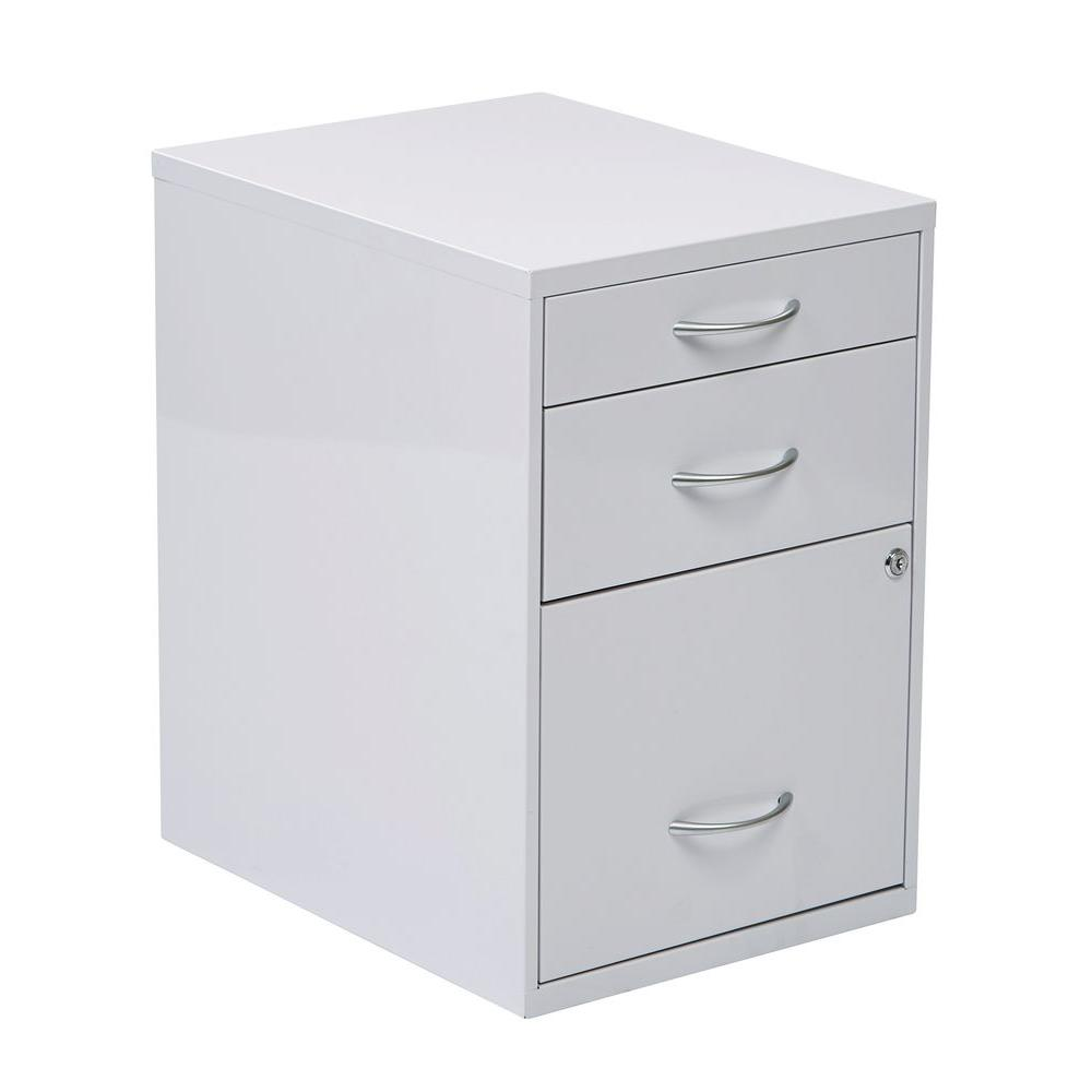 OSPdesigns White File Cabinet-HPBF11 - The Home Depot
