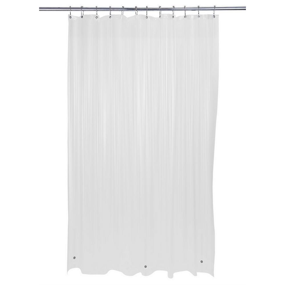 72 in. x 72 in. Heavy Grommet Shower Liner in Frost Clear