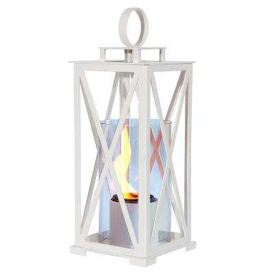 17 in. Madison Lantern in White (Small-Size)