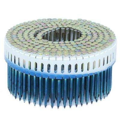 2.25 in. x 0.092 in. 0-Degree Smooth Galvanized Plastic Sheet Coil Nail 4,000 per Box
