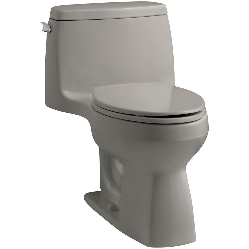 KOHLER Santa Rosa 1-piece 1.6 GPF Compact Elongated Toilet with AquaPiston flush technology in Cashmere