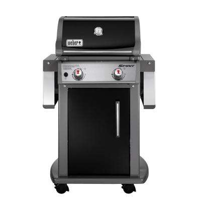 Spirit E-210 2-Burner Propane Gas Grill in Black with Built-In Thermometer
