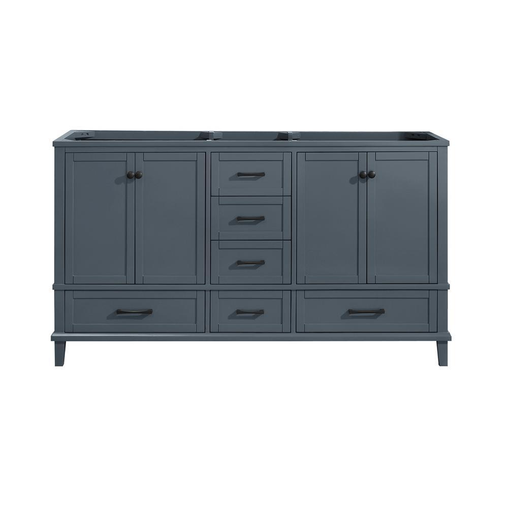 Merryfield 60 in. W x 21-1/2 in. D Bathroom Vanity Cabinet Only in Dark Blue-Gray