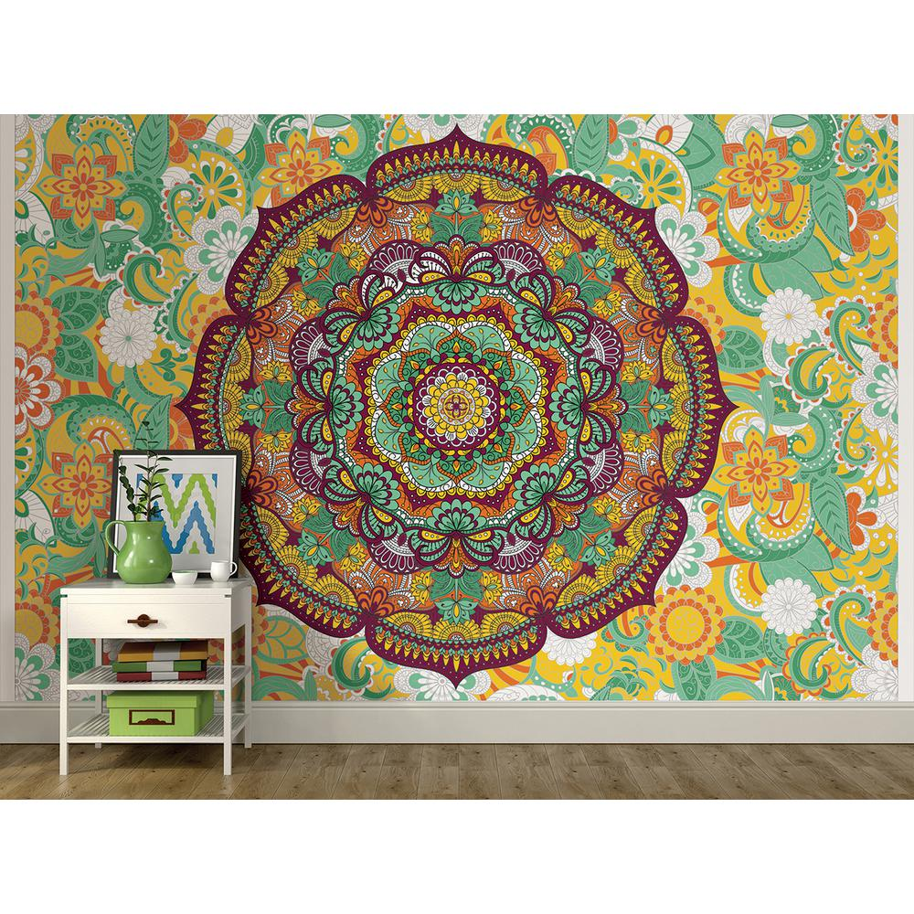 Brewster 72 in x 108 in paradise coloring wall mural for Brewster wall mural