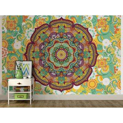 72 in. x 108 in. Paradise Coloring Wall Mural
