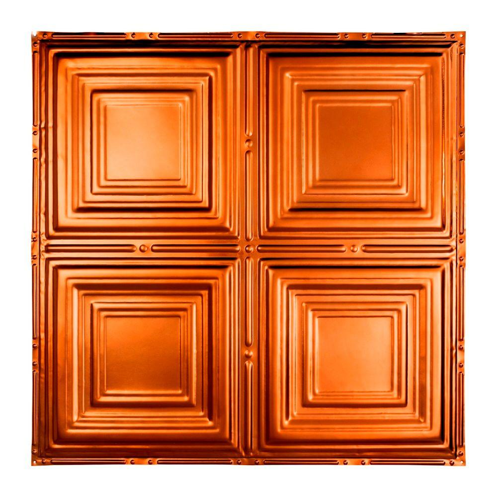 Great Lakes Tin Syracuse 2 ft. x 2 ft. Nail-up Tin Ceiling Tile in Copper