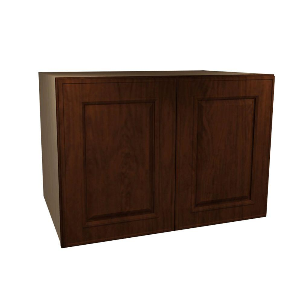 Home Decorators Collection Roxbury Assembled 30x18x24 in. Double Door Wall Kitchen Cabinet in Manganite