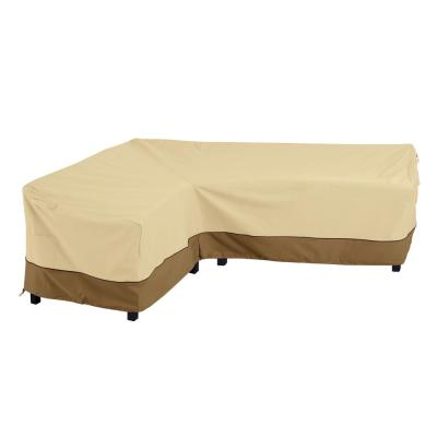 Veranda 115 in. L x 32 in. W x 31 in. H L-Shaped Left-Facing Sectional Lounge Set Cover