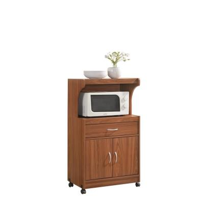 Hodedah Cherry Microwave Cart With