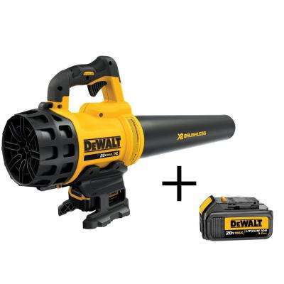 90 MPH 400 CFM 20-Volt MAX Lithium-Ion Cordless Leaf Blower with (1) 5.0Ah Battery, (1) 3.0Ah Battery and Charger