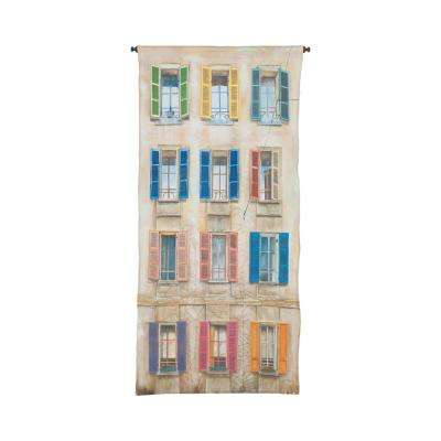 "Multicolor ""Window and Shutter"" Wall Tapestry"