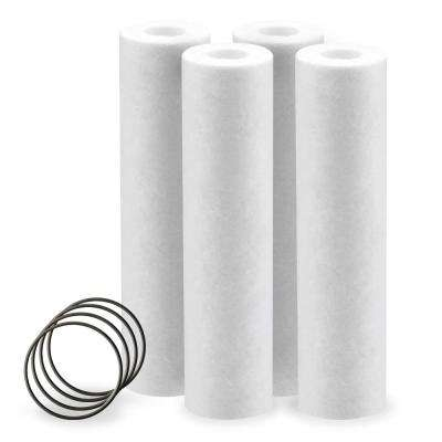 10 in. 10 Micron Hot Water Sediment Replacement Water Filter Cartridge - (4 Pack)
