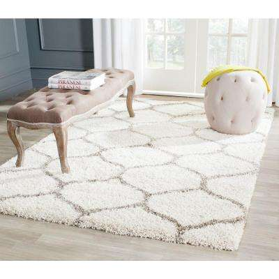 Hudson Shag Ivory/Gray 5 ft. 1 in. x 7 ft. 6 in. Area Rug