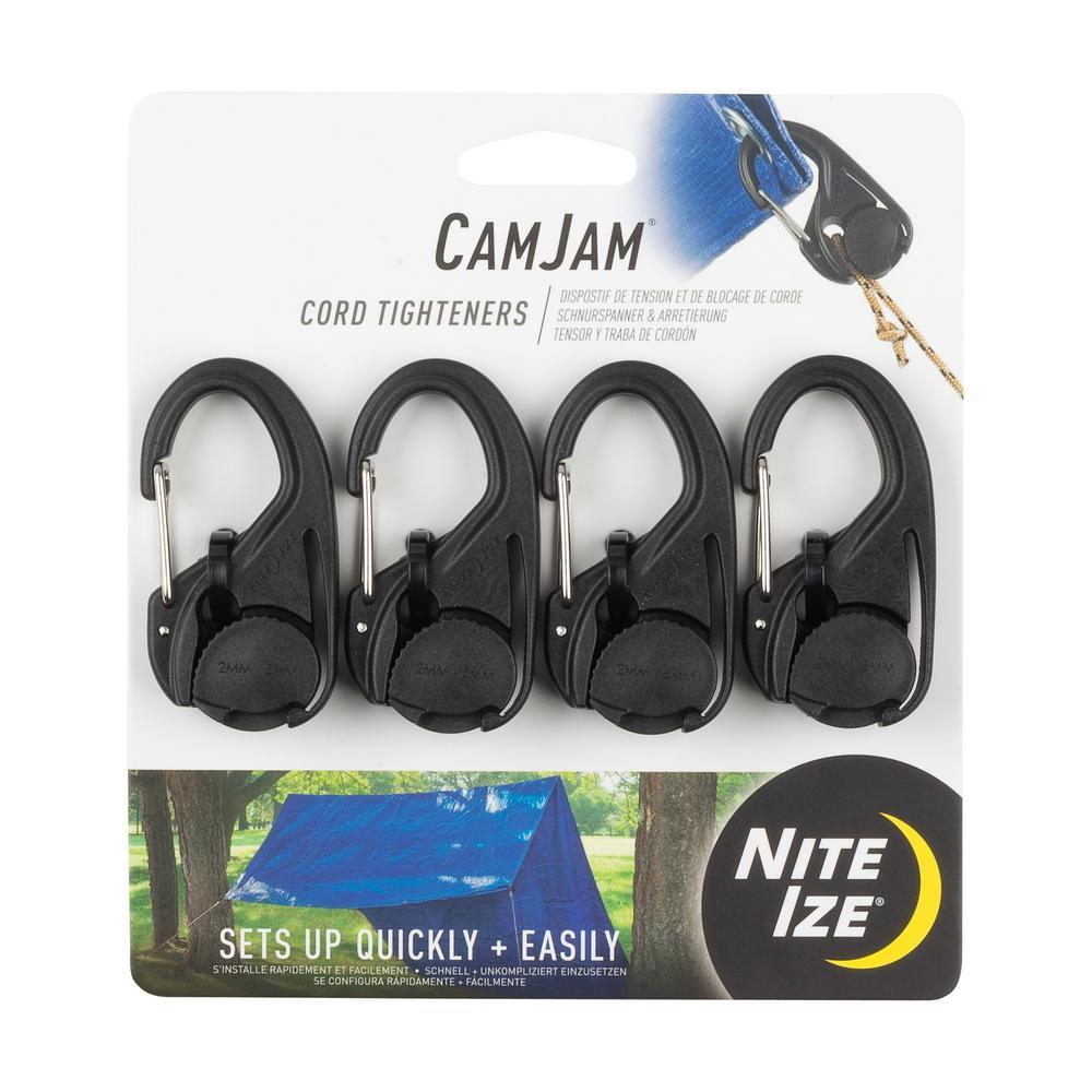 CamJam Cord Tightener in Black (4-Pack)
