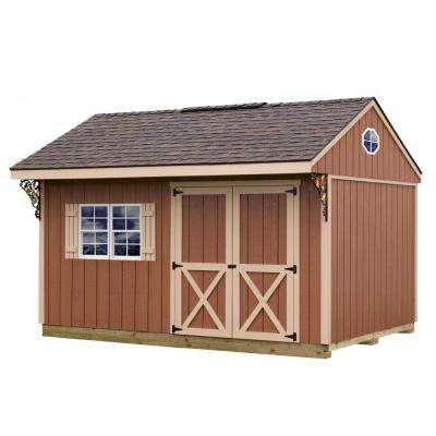 Northwood 10 ft. x 14 ft. Wood Storage Shed Kit with Floor including 4 x 4 Runners