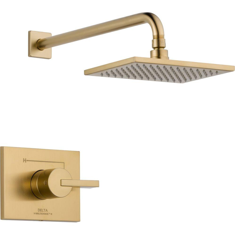 Delta Vero 1-Handle 1-Spray Raincan Shower Faucet Trim Kit in Champagne Bronze (Valve Not Included)