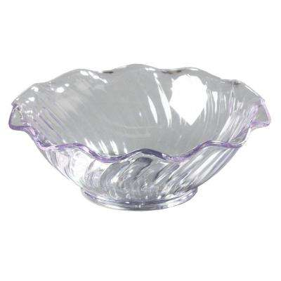 5 oz. SAN Plastic Tulip and Berry Dish in Clear (Case of 24)