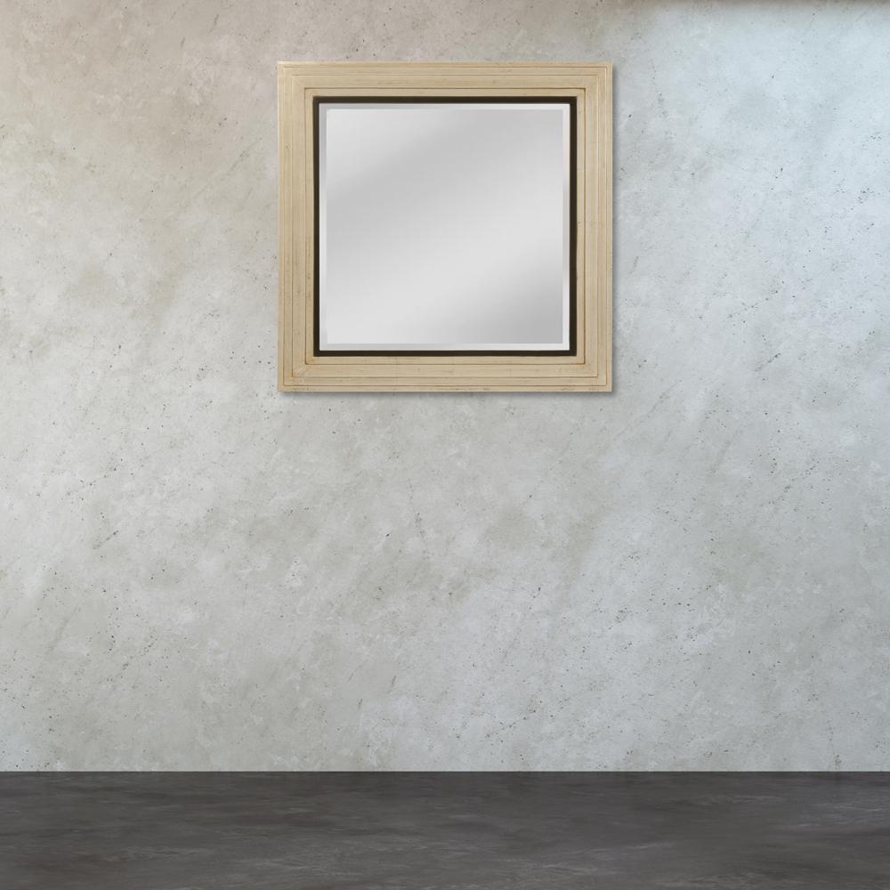 Sheldon 32 in. x 32 in. Square Wood Framed Mirror