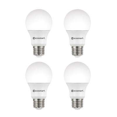 Great 60 Watt Equivalent A19 Dimmable Energy Star LED Light Bulb, Bright White (4