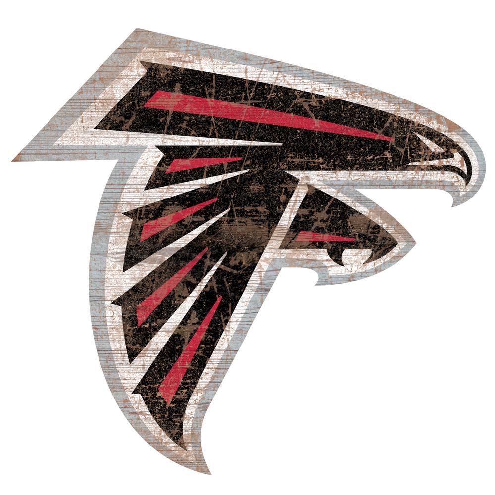 Fan Creations Indoor Wood Atlanta Falcons Distressed Logo Cutout