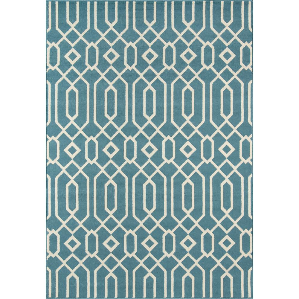 Baja Blue 8 ft. x 11 ft. Indoor/Outdoor Area Rug